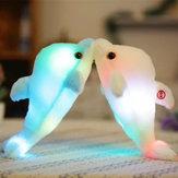 32cmСветящиесяплюшевыедельфиныКуклаСветящиеся Светодиодный Игрушки для животных Soft цветful Кукла Подушка