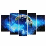 5 قطع فرملس ضخمة جدار الفن النفط الطلاء صور طباعة الأزرق كوكب قماش اللوحة الرئيسية مكتب غرفة المعيشة ديكور