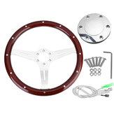 GM модифицировал 15 дюймов Ретро Рулевое колесо из твердой древесины для старого Санты Volkswagen T3 T25