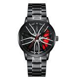 ONOLA ON3822 Visible Dial 3D Hollow Wheel Hub Design Relógio de moda masculino relógio de quartzo
