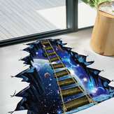 Miico Creative 3D Universe Puente colgante extraíble Home Room Decorativo pared puerta Decoración Sticker