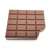Libro de pegatinas de chocolate Creativo Chocolate Cookies Forma Memo Sticker Pad Cuaderno de notas lácteas para suministros de oficina