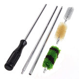 Kaload G104 6Pcs/Set Aluminum Rod Cleaning Brush Kit For 12 GA Gauge Gun Hunting Tactical Shotgun