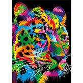 Bricolage 5D diamant peinture léopard tigre Lion loup Art artisanat broderie point Kit à la main décorations murales cadeaux pour enfants adulte