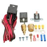 Kit relé 185 ~ 200 graus sensor de interruptor do ventilador de arrefecimento do motor termostato temperatura 5pins