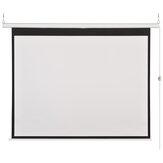 100-inch 16: 9 elektrisch grijs glasvezelprojectiescherm Home Cinema Theaterprojector HD Elektrisch projectiegordijn