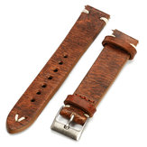 Ramiączka Vintage Style W trudnej sytuacji Wome / Men Watch Band Strap with Stitching
