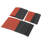 127Pcs Black&Red Weatherproof Heat Shrink Sleeving Tubing Tube Assortment Kit
