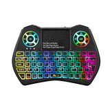I9 Plus Mini 2.4GHz Teclado Colorful Retroiluminación Fly Air ratón Inalámbrico Teclado Con Touchpad Control remoto Trabajo para Android TV