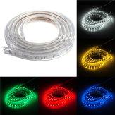 ماء ip67 2 متر 60smd 5050 الأحمر / الأزرق / الأخضر / دافئ أبيض / أبيض / رغب ليد ضوء قطاع 220 فولت
