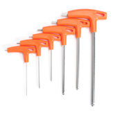 6Pcs T Handle Ball Ended Hex Key Set Long Alcance Allen Screwdriver chave Ferramenta 22.53568mm