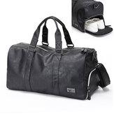 MännerGroßeLederReiseSporttascheDuffle Aufbewahrungstasche Handtasche Schuhe Veranstalter