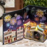 CUTE ROOM Watertown Journal Theme DIY Assembled Doll House for Children Toys