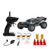 S809 Flere batterier RTR 1/32 2.4G 2WD Mini RC bil Dobbelt hastighed terrængående køretøjer børn legetøj LED lys model