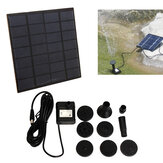 1.2W Mini Solar Power DC Borstelloze Onderwater Waterpomp Tuin Landschap Fontein Decoratie