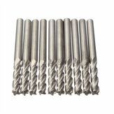 10 stks 3.175mm Schacht Carbide Frees CNC 4 Fluit Spiraal Bit End Mill CEL 15mm