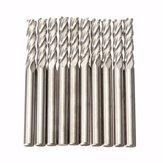 10pcs 3.175mm Shank Carbide Milling Cutter CNC 4 Flute Spiral Bit End Mill CEL 15mm