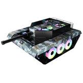 Компьютер TK20 ПК Чехол Игровое шасси Особые 120-миллиметровые вентиляторы в форме резервуара Водяное охлаждение Закаленное стекло Поддержк