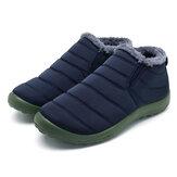 Bottesdeneiged'hiverpourhommes Les chaussures montantes gardent au chaud des ballons épais et des chaussures imperméables doublées de fourrure