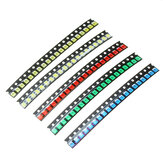 100 Pcs 5 Warna 20 Setiap 1210 LED Diode Assortment SMD LED Diode Kit Hijau / MERAH / Putih / Biru / Kuning