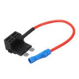 V-ACU ajouter un support de boîte à fusibles micro de lame de voiture de robinet de fusible de circuit bas profil