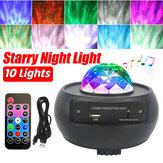 Alto-falante USB bluetooth LED Galaxy projetor luz de palco lâmpada noturna estrelada para casa de festa KTV + Controle Remoto