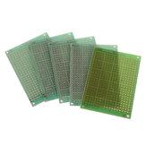 5pcs 5x7cm 5 * 7 PCB lato singolo prototipo PCB circuito stampato universale PCB in fibra di vetro bordo universale verde Olio Protoboard epossidico