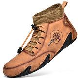 حذاء جلد من الألياف الدقيقة مريح يمكن ارتداؤه للرجال من الجلد Soft