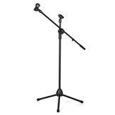 150cm Microphone Stand Holder Boom Arm Height Angle Adjustable with Tripod Base
