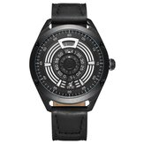 WEIDE UV1701 Uniek design lederen band heren polshorloge