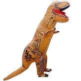 Até 2.2 m Brinquedos Infláveis Dinossauro do Dia Das Bruxas Roupa Traje Animal Adulto Extravagante Animal Roupas Com Ventilador
