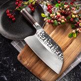 Faca forjada de aço inoxidável MCD39 Cutelo de carne Faca de açougueiro faca ferramenta de cozinha para chef com cabo de madeira de ébano