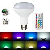 E27 / b22 rgbw 10w LED lâmpadas coloridas globo lâmpada + controle remoto ac85-265v