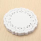 180pcs 3.5 '' Dentelle ronde en papier blanc Dentelle Dentelle Mariage Décorations Artisanales 8.8cm