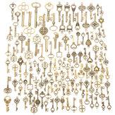 125 stks vintage bronzen sleutel voor hanger ketting armband diy handgemaakte accessoires decoratie