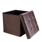 Стул для хранения из искусственной кожи, многофункциональный диван, подставка для ног, подставка для ног Коробка, стул для ног, квадратный