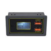 DC 6-30V to 5V Electricity Meter Car Voltage 12V24V Battery Lead Acid Battery to 5V Dual USB Fast Charge Current Display