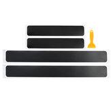 4-delig Auto-accessoires Dorpel Instaplijsten 4D Stickerpaneel Bescherm Koolstofvezel