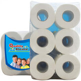 6/10 Rolls/Pack 3 Layers Toilet Paper Home Kitchen Toilet Tissue Soft Strong Hand Towels for Family Daily Use
