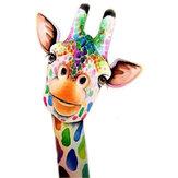 DIY 5D diamentowe malowanie zwierząt żyrafa diamentowy haft ściegiem krzyżykowym pełne okrągłe wiertło prezent na boże narodzenie dekoracja domu