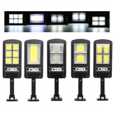500-1000W COB LED Solarbetriebene Wall Street Light PIR Motion Garden Lampe + Fernbedienung