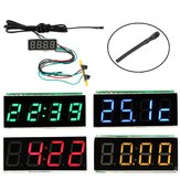 0.36 Inch 3-in-1 Time + Temperature + Voltage Meter Display with NTC DC7-30V Voltmeter Electronic Watch Clock Digital Tube