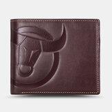 Portafogli verticali orizzontali da uomo Bifold RFID Antifurto Pennello Porta carte con slot multi-scheda Fermasoldi Portafogli in pelle bovina