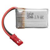 Kudian 3.7V 250mAh 60C 1S Lipo Battery JST Plug
