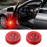 Universale Wireless LED Spia per l'apertura della portiera dell'automobile Sicurezza Flash Segnale lampada Anti-collisione Rosso 2 PZ