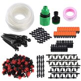 164pcs Drip Irrigation System Micro Drip Irrigation Kit DIY Patio Plant Watering Kit Garden Irrigation System 15m Transprant Hose with 2 Kind of Spayers