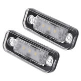 2Pcs 3-SMD LED 7000K License Plate Lights Lamps For Benz C E-Class CLS SLK W211 S211