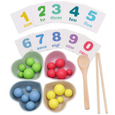 Child Montessori Educational Math Toys Clip Beads Practice Chopsticks Kids Gifts