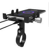 GUB G-91 48V Phone GPS USB Charger Holder Bike Mount Electric Scooter Bicycle Motorcycle Charging Stand