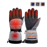 3-Modes Control Winter Electric Heated Gloves Outdoor Thermal Warm Gloves Waterproof Battery Powered For Skiing Cycling
